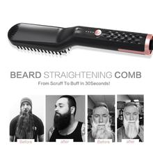 3 in1 Electric Brush Comb Hair Straightener For Men Straight