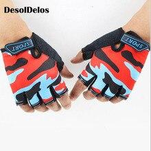 Fingerless Kids Gloves Non-Slip Ultrathin Children Half Finger Breathable For Boys Girls Luvas De inverno 2019