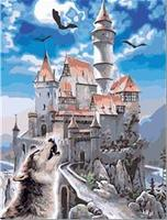 MaHuaf-W1128 Great Castle coloring by numbers wall art pictures for living room diy oil canvas painting cuadros decor