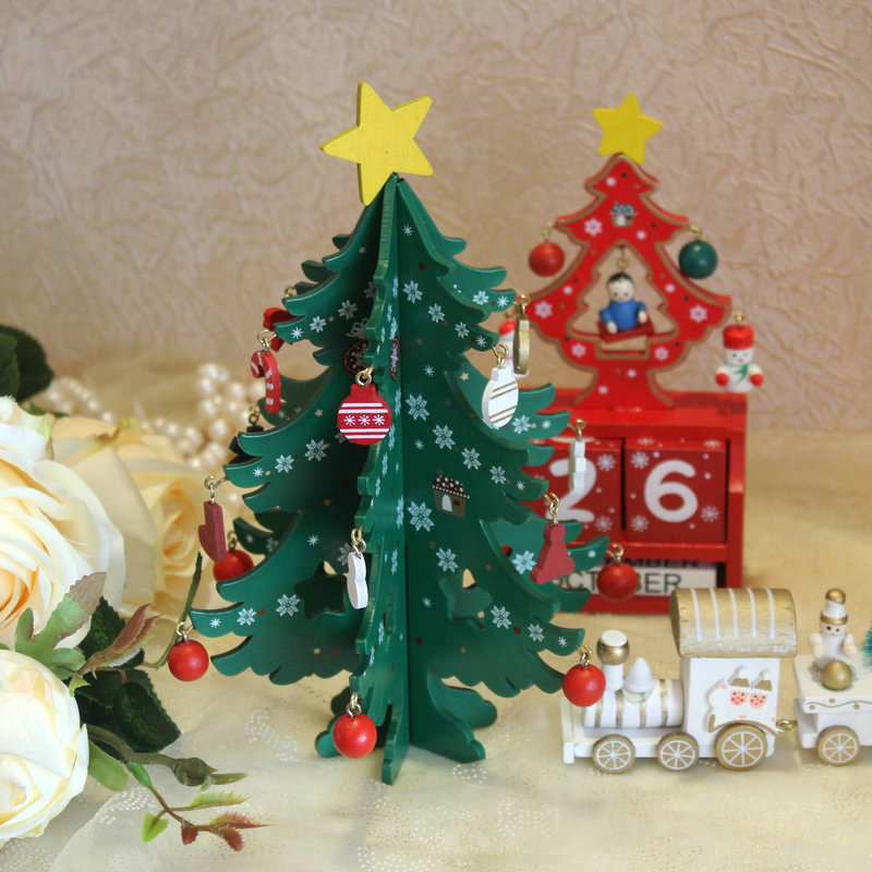 amawill christmas diy density board christmas tree decorations christmas party children gift window display table decoration 8d in party diy decorations