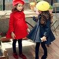Nueva llegada de la chaqueta de la muchacha, niños ropa de invierno, clásico capa de las muchachas de 3 T-12 T envío libre abrigo de buena calidad