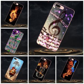 Agua de fuego música de guitarra funda de goma blanda funda de teléfono para Xiaomi mi 3 mi 4 mi 4C mi 4i mi 5 mi 5S 5X 6 6X 8 SE A1 Max mi x 2 Note 3 4