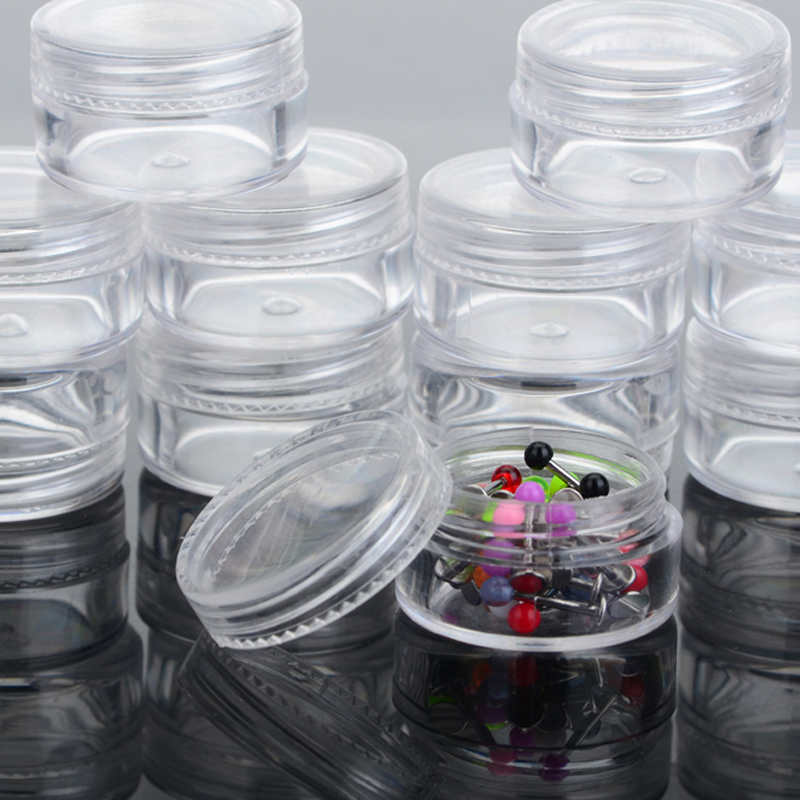 New 5Pcs Clear Plastic Jewelry Beads Rings Earring Pill Storage