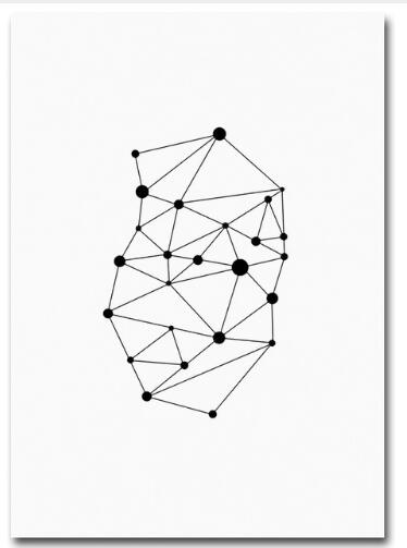 Modern Home Office Room Decoration Love One Line Drawing Geometry