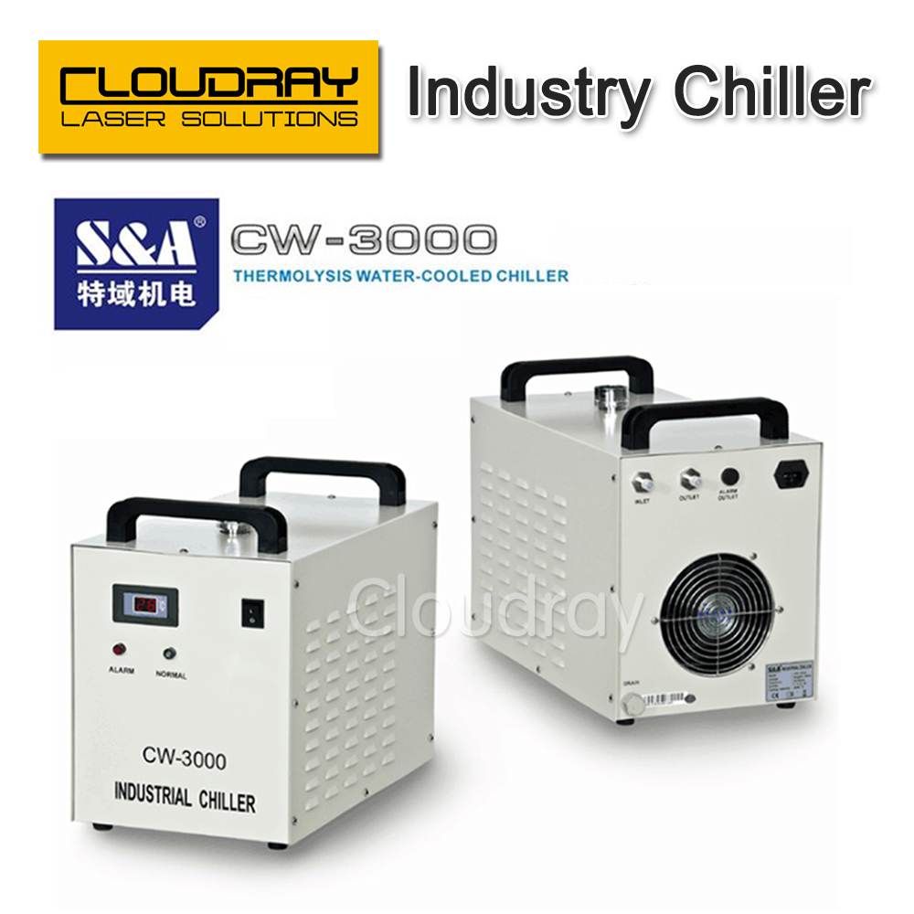 S&A CW3000 Industry Air Water Chiller  for CO2 Laser Engraving Cutting Machine Cooling 60W 80W Laser Tube co2 laser cutting machine industry water cooling machine for brazil cw 5000 bg 220v 60hz 100w laser chiller