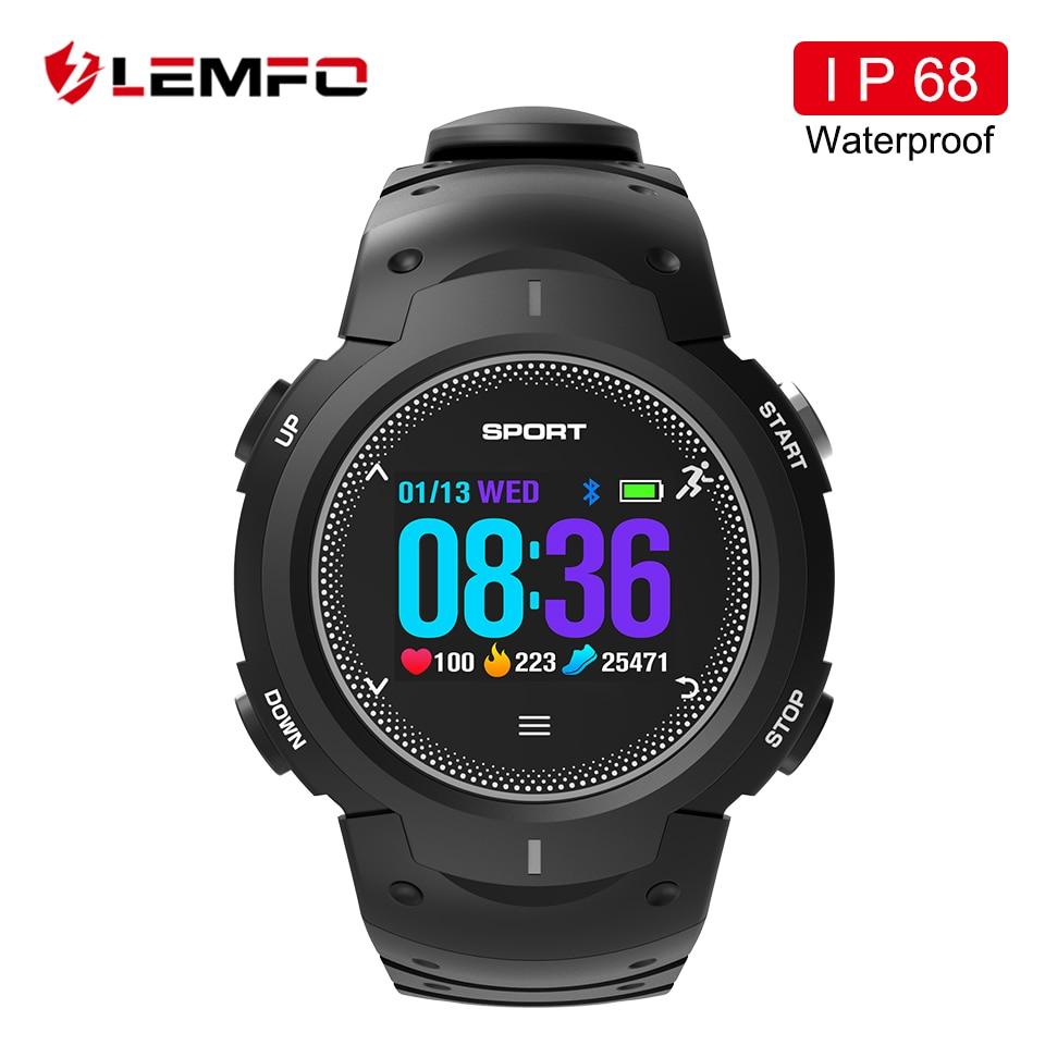 LEMFO Смарт-часы Водонепроницаемый IP68 шагомер мониторинга сердечного ритма Мульти Спорт режим BT4.0 Smartwatch F13 часы Для мужчин