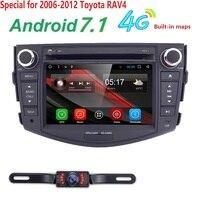 7 2 DIN Android 7.1 автомобилей Радио Quad Core RAV4 в автомобильный мультимедийный плеер для Toyota RAV 4 dvd r 4 г GPS навигация SWC DVR dab WiFi