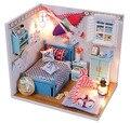 Primeira escolha Dos Namorados presente isWooden Artesanal casa de Bonecas Em Miniatura DIY Kit-Linda foto framse & Móveis CASA de BONECAS