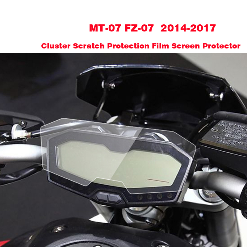 Новый для YAMAHA МТ-07 ФЗ-07 MT07 кластера Скреста-защитная пленка протектор экрана для YAMAHA FZ07 МТ 07 2014 2015 2016 2017