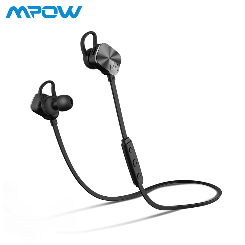 Mpow BH29 Coach Headphone Wireless Bluetooth 4.1 In-Ear Sports Metal Stereo Headphones Headset with Volume control Mic For phone mpow wireless headphone bluetooth 4 1 in ear headset with remote control