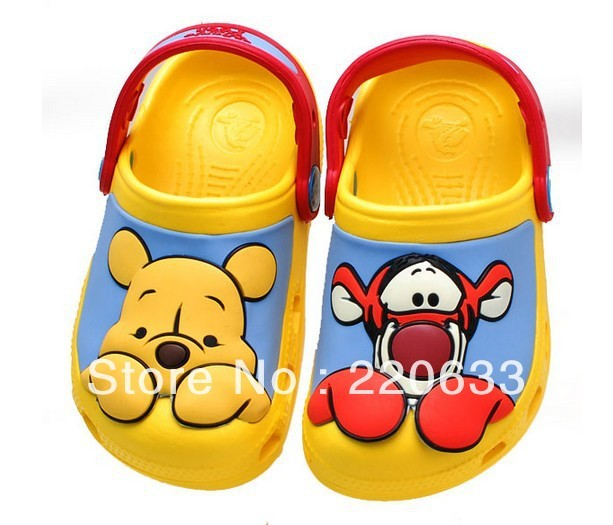 Free shipping,new 2014,spring summer,boy shoes,Hot sale 3D cartoon Winnie Tigger  beach sandal,boy slippers,beach baby shoes