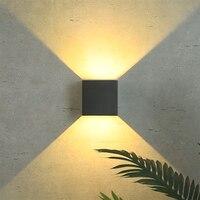 20 w conduziu a lâmpada de parede ip65 jardim ao ar livre à prova dlight água luz parede casa iluminação interior decoração varanda corredor lâmpada alumínio|Luminárias de parede|Luzes e Iluminação -