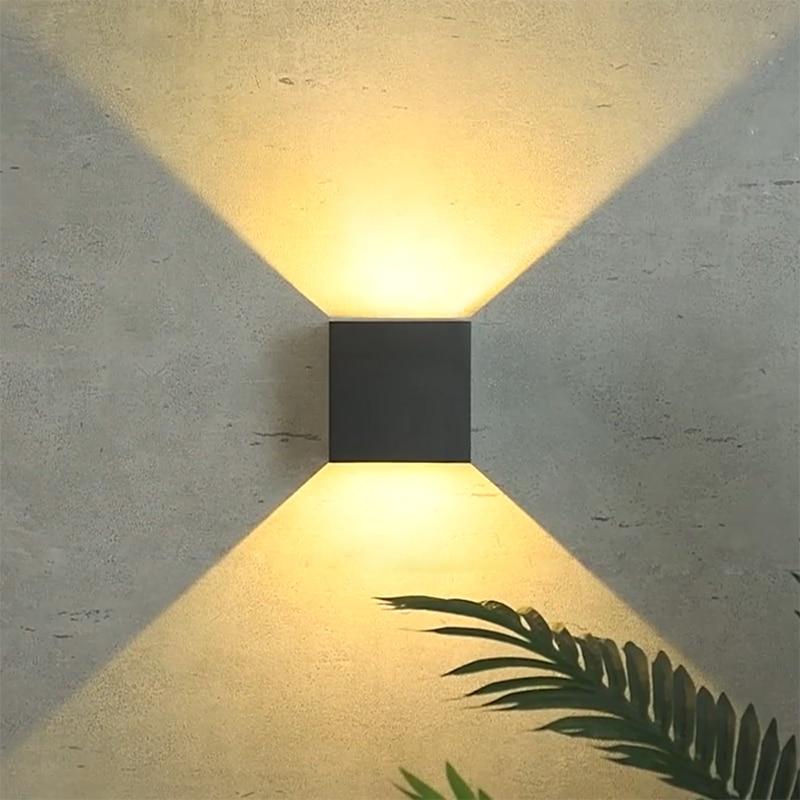 20W mur LED lampe IP65 jardin extérieur étanche applique murale maison éclairage intérieur décoration porche couloir allée lampe en aluminium