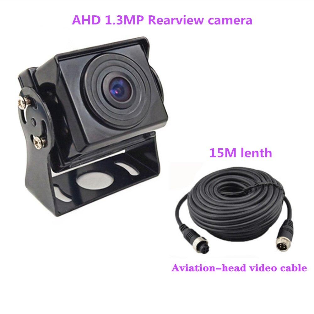 Горячие Новые 7 дюймов ips 2 с разделенным экраном 1024*600 AHD автомобильный монитор Автомобильный видеорегистратор DVR или AHD фронтальная камера/камеры заднего вида по желанию - Цвет: Reverse cam2 15M