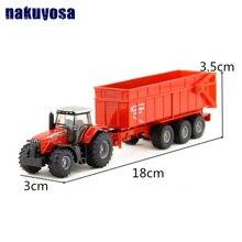 1: 87 масштаб/литая металлическая модель/сельскохозяйственный трактор Massey Ferguson/игрушечный автомобиль для детского подарка/образовательная коллекция 18*3*3,5 см