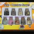 2015 garrafas de 9 pçs/set Mini tom jóias tampa de madeira de Reiki cura de cristal de quartzo de Sz caiu pedra jóias