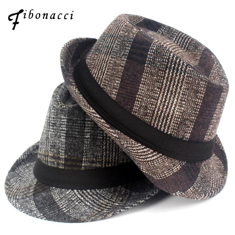 Fashion Nylon Striped Fedoras Adult Winter Small Fedora Hats for Women Men Neutral Floppy Jazz Caps