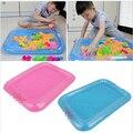 Inflável Areia Mesa Bandeja de Plástico Móvel Para As Crianças Crianças Indoor Jogar Areia Argila Cor Brinquedos de Barro Acessórios de Multi-função