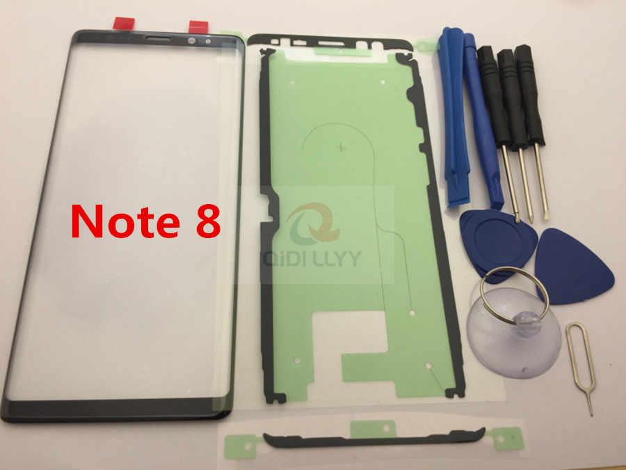 استبدال الزجاج الخارجي لسامسونج غالاكسي S8 S8 زائد S9 S9 Plus نوت 8 9 شاشة إل سي دي باللمس شاشة الجبهة الزجاج الخارجي عدسة