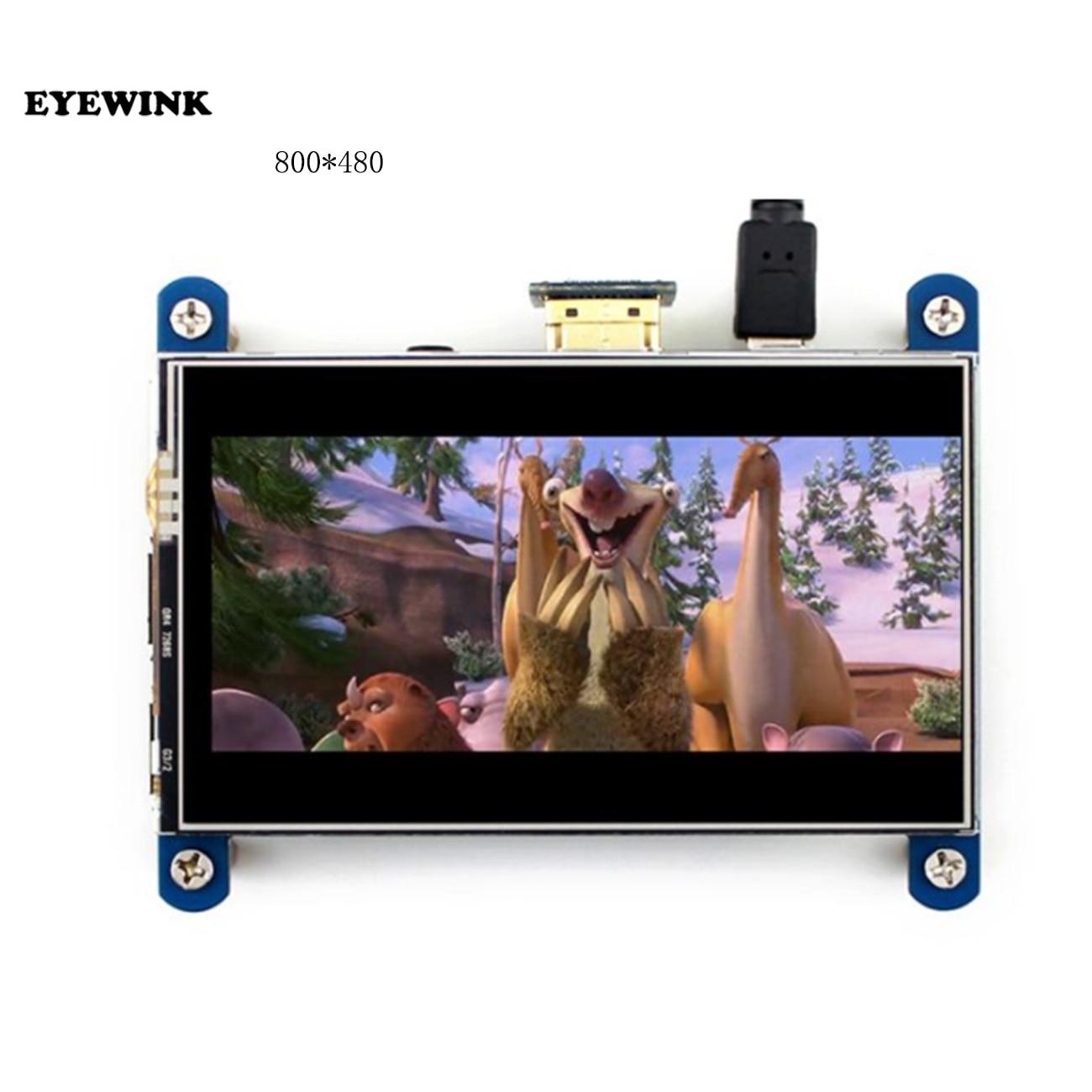 Raspberry Pi LCD touchscreen 4 zoll 800x480 IPS hdmi display besser als 3,5 zoll touch screen