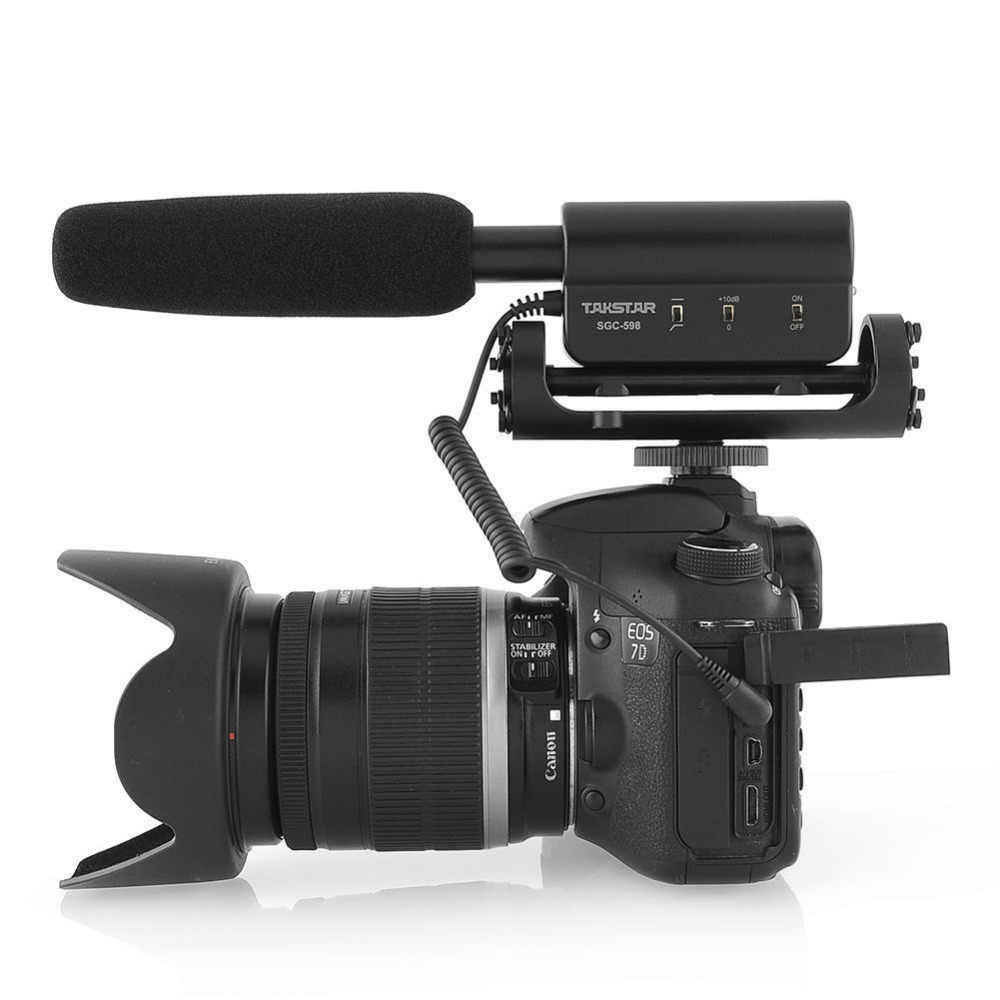 Best Takstar SGC-598 Photography Interview Microphone for Youtube Vlogging  Video MIC for Nikon Canon DSLR mic sgc 598