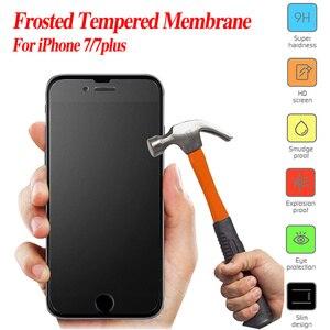 Матовая защитная пленка из закаленного стекла для iphone X XR XS Max 8 7 Plus 6S 5 SE без отпечатков пальцев