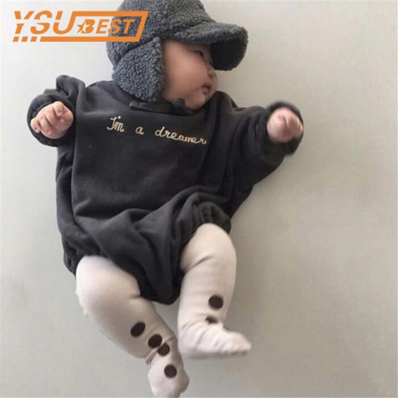 Baby Boys Girls Bodysuit 2019 Autumn Korean Babies Bodysuit Wear Sweater Fashion Sweatshirt Girl Clothes Girls Hoodies Bodysuit