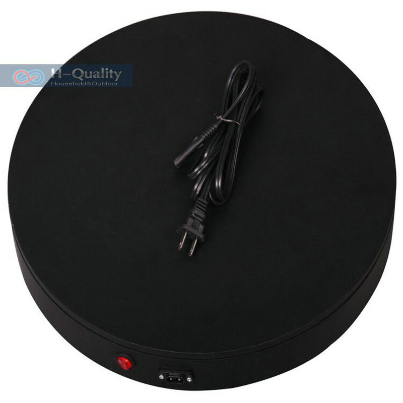 HQ H4 400X60MM Heavy Duty 360 Degree Electrical Merchandise Display Base Turntable Stand Automatic Revolving Platform
