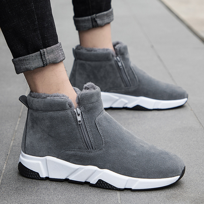 Hot Sale Winter New Men Winter Snow Boots Brand Outdoor Keep Warm Fashion Casual Shoes Ankle Lace-up Non-slip Man Cotton Shoes mulinsen brand new winter men sports hiking shoes inside keep warm sport shoes wear non slip outdoor sneaker 270622