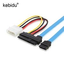 Kebidu für Festplatte 7 Pin SATA Serial Weibliche ATA zu SAS 29 Pin Stecker Kabel & 4 Pin männlichen Power Kabel Adapter Konverter