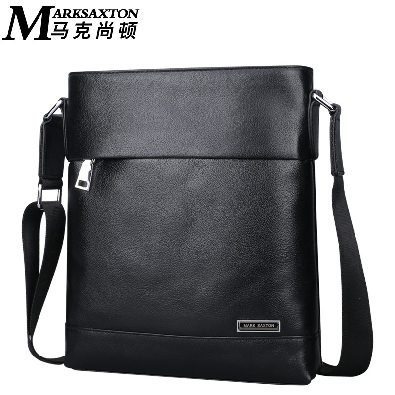 High Grade Metal Brand Logo Genuine Leather Bag Casual Shoulder Crossbody bags Fashion Cow leather Men Messenger Bags