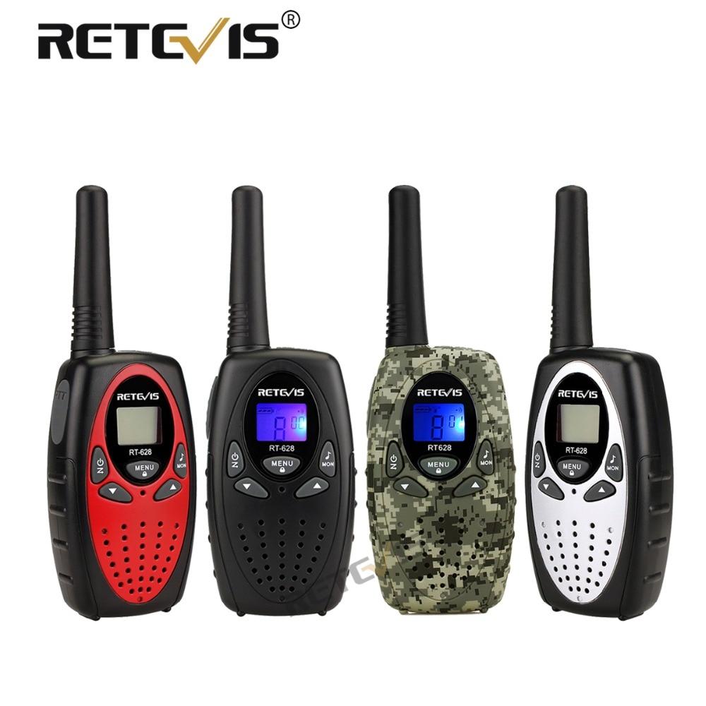2pcs Retevis RT628 Walkie Talkie Mini Kids Radio PMR FRS 0.5W PMR446 8/22CH VOX PTT LCD Display Children 2 Way Radio Transceiver