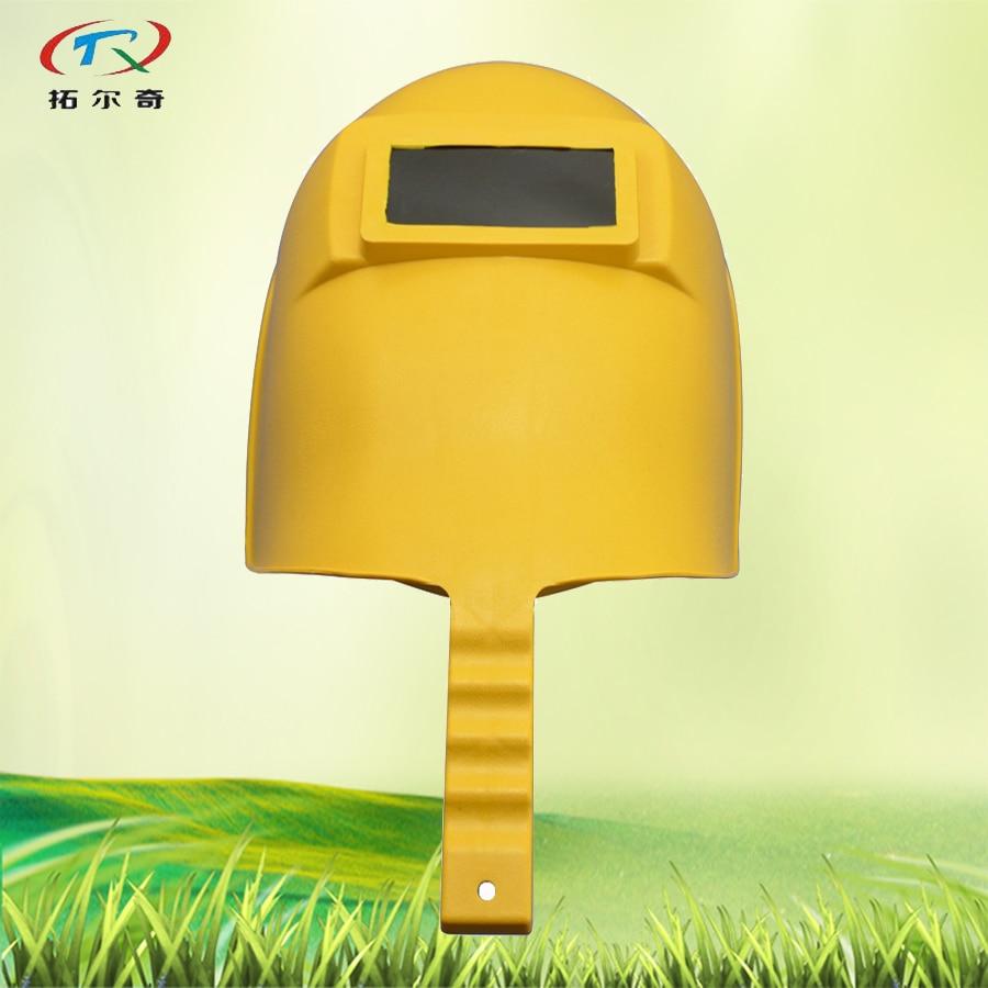 Preensão da Mão Máscara de Solda Capacete de Soldagem Célula de Lítio e Energia Auto Darkeing Capacete Automática Cheia Interior Sf05 Solar Amarelo 1100