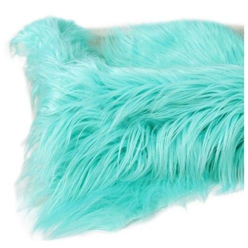 Baby Newborn Faux Fur Photography Photo Props Blanket Basket Stuffer Rug Beanbag Background Backdrop Light Green