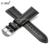 ZLIMSN 22mm X 18mm Línea Blanca Negro correas de Reloj de Cuero Suave Genuino correas de Reloj Correa de Reemplazo Para T039