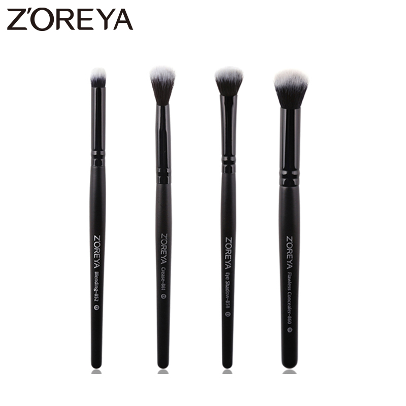 Zoreya Brand 4pcs Lots Eyeshadow Makeup Brushes Set Blending Brushes For Makeup Set Crease Concealer Cosmetic