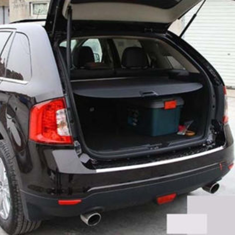 BBQ@FUKA Rear Trunk Shade Cargo Cover Fit For 2011-2013 Ford Edge BLACK car rear trunk security shield cargo cover for honda fit jazz 2008 09 10 11 2012 2013 high qualit black beige auto accessories