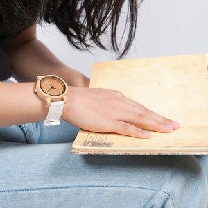 Image 3 - BOBO BIRD Women Watch Bamboo Wood Timepieces Silicone Straps relojes mujer marca de lujo Great Wrist Watch for Girls Accept Logo