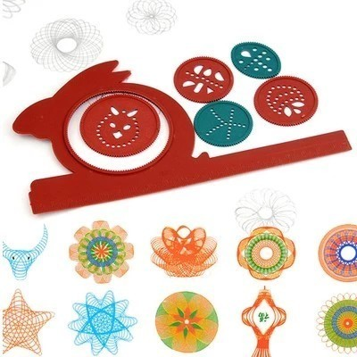 Newest Spirograph Magic Turtle Rabbit Sketchpad Kids Gift Drawing Board Educational Toys Mat Magic Pen Educational Toy Water