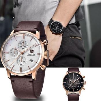 BENYAR Men's Watches Casual Fashion Brand Gold / Military / Sports / Watch Top Luxury Men's Quartz Clock Time Relogio Masculino