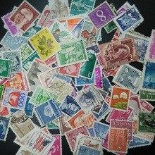 100 PZ/LOTTO Tutti I Diversi Vecchio/Vintage Francobolli di Marca Con Timbro Postale, Nessuna ripetizione timbri timbri
