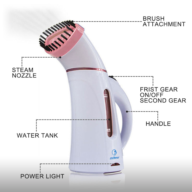 Image 5 - 110V 220V Vertical Garment Clothes Steamer with Steam Brush Laundry Appliances Ironing Irons Handheld Steamers Iron Pink-in Garment Steamers from Home Appliances