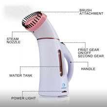 110V 220V Vertical Garment Clothes Steamer with Steam Brush Laundry Appliances Ironing Irons Handheld Steamers Iron Pink