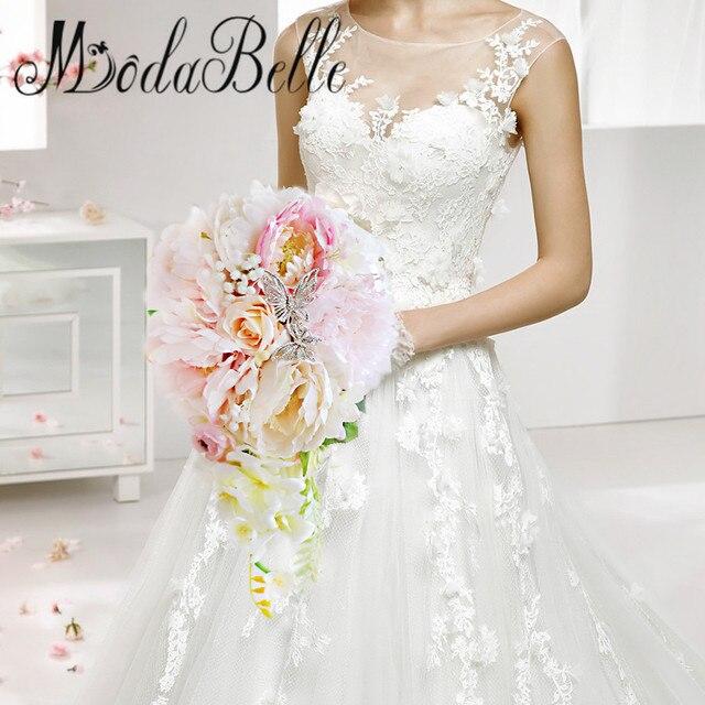Пользовательские Пион Водопад Свадебный Букет Для Невест 2017 Искусственный Свадебный Букет Розовый Коралл Хрустальный Trouw Boeket