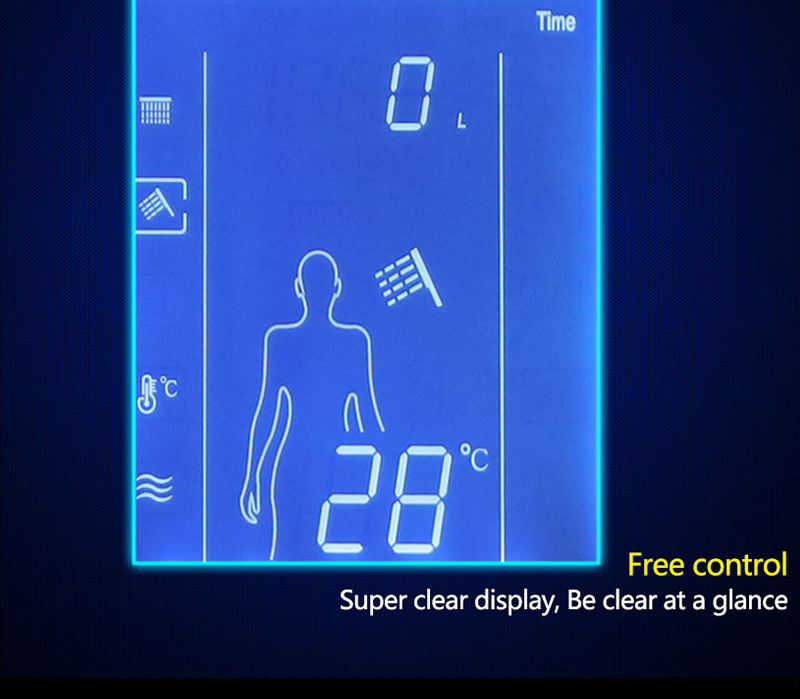 Digital Shower Set Controller Touch Control Panel SUS304 Rainfall Bathroom Thermostatic Control Led Digital Shower Faucet (16)