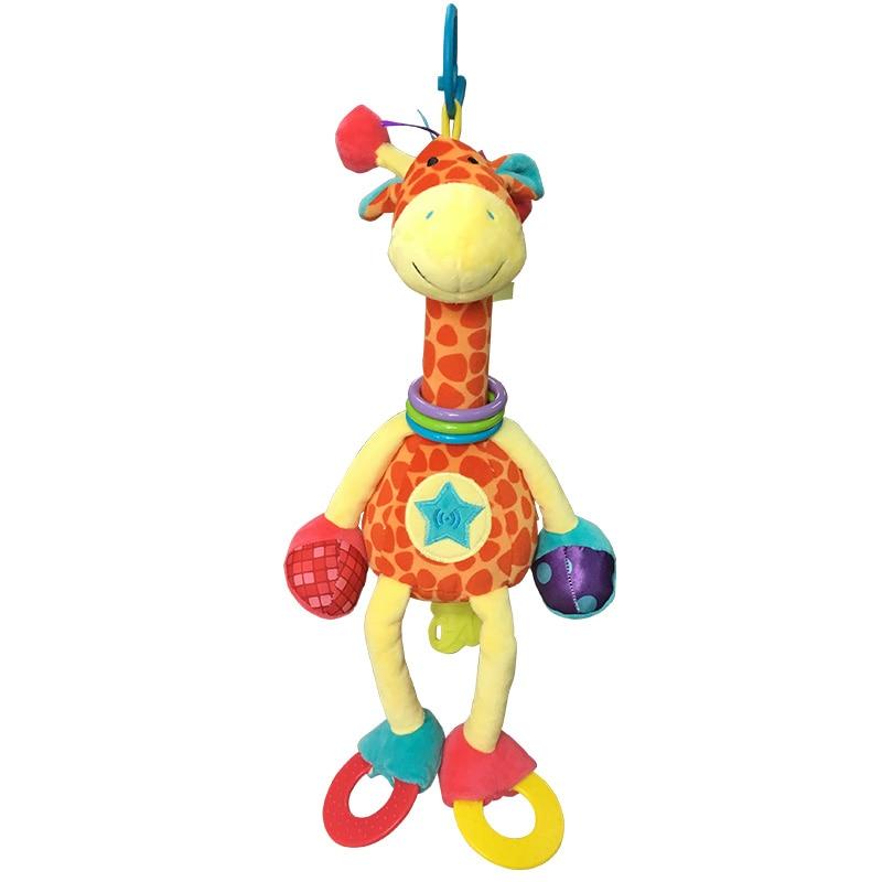 Плюшеві Жирафи Животні, YKS Дитячі Плюшеві Іграшки Розвиваючі Інтерактивні Іграшки Дитячі Розвиток Дитини М'які Жираф Тварини Handbells Рац  t