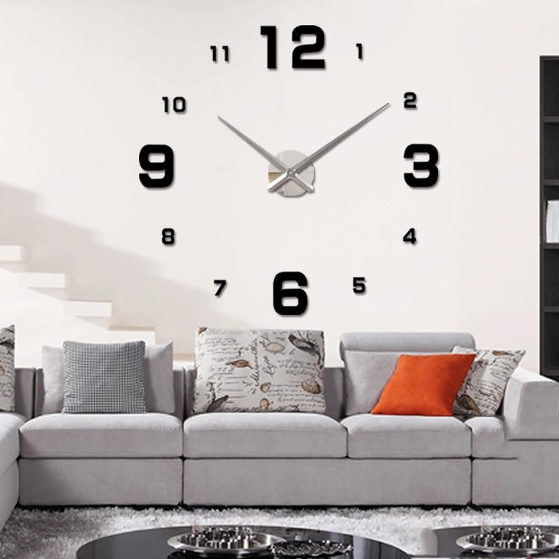 2017 new arrival 3d home decor quartz diy wall clock. Black Bedroom Furniture Sets. Home Design Ideas