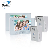 Saful Rainproof Wireless Video Door Phone 7 TFT 2 4G Touch Key Unlock Function Night Vision