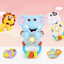Купить с кэшбэком Lion Cow Rattles Teethers Baby Toys 0-12 Months Educational Toys Cartoon Animal Mobile For Baby Cribs Mobile Phone Toy