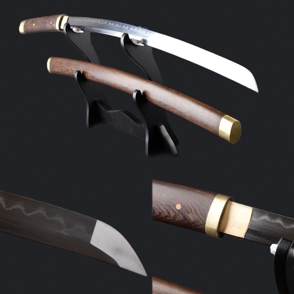Pianura Giapponese Samurai Katana In Legno di Palissandro Saya guaina Piegato In Acciaio Temperato Argilla Sharp Espada Lama Completa Tang Giapponese Stile Deco
